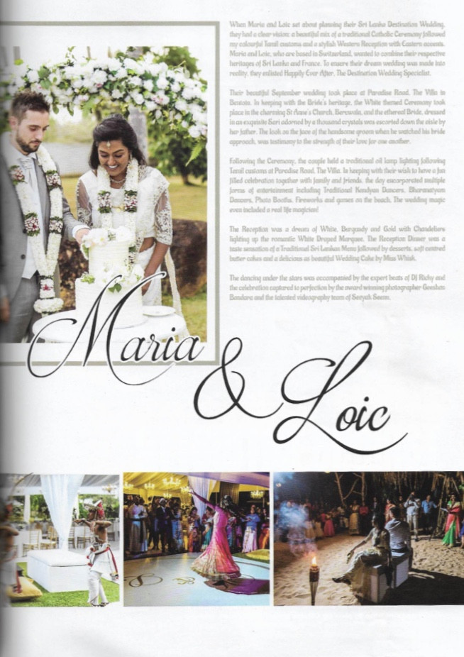 Wedding Planner in Sri Lanka Happily Ever After Destination Wedding Planner Maria and Loic in Vogue Magazine
