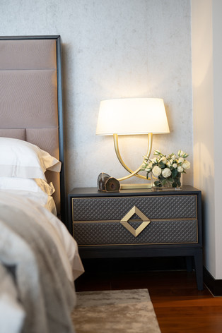 Bedside table in interior by Creative Heritage Interiors