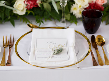 Romantic destination wedding table setting at wedding in Sri Lanka