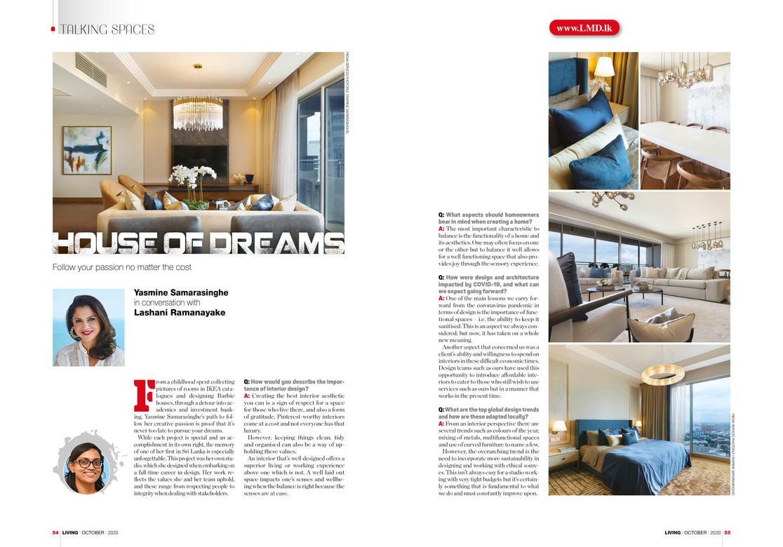 Living Magazine Yasmine Svensson Creative Heritage Interior Design Sri Lanka
