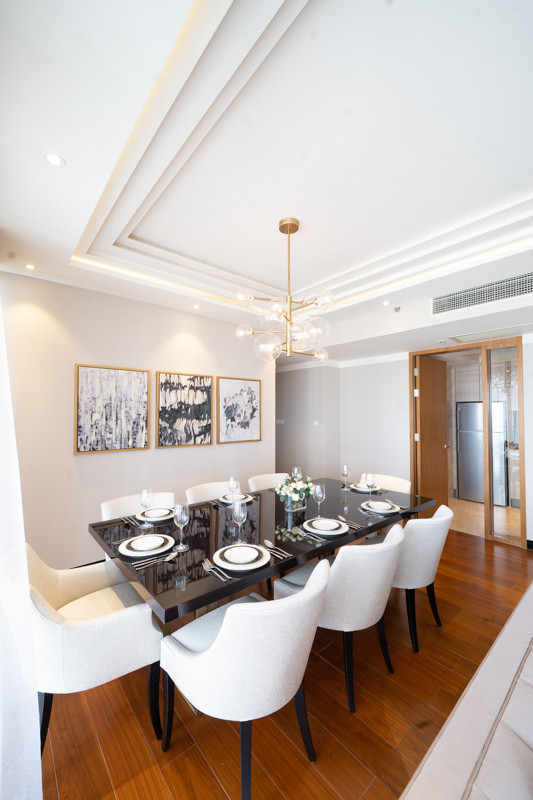 Dining Table and Chairs by Creative Heritage Interiors at One Galle Face Shangri La Residences