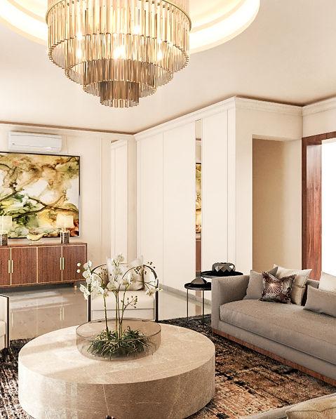 3D Living Room Lake Drive Enclave House