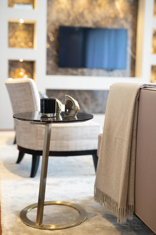 Side table detail by Creative Heritage Interiors Interior Design