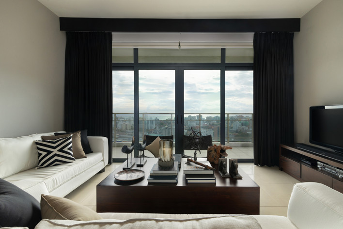 Living Room at Havelock City by Creative Heritage Interiors