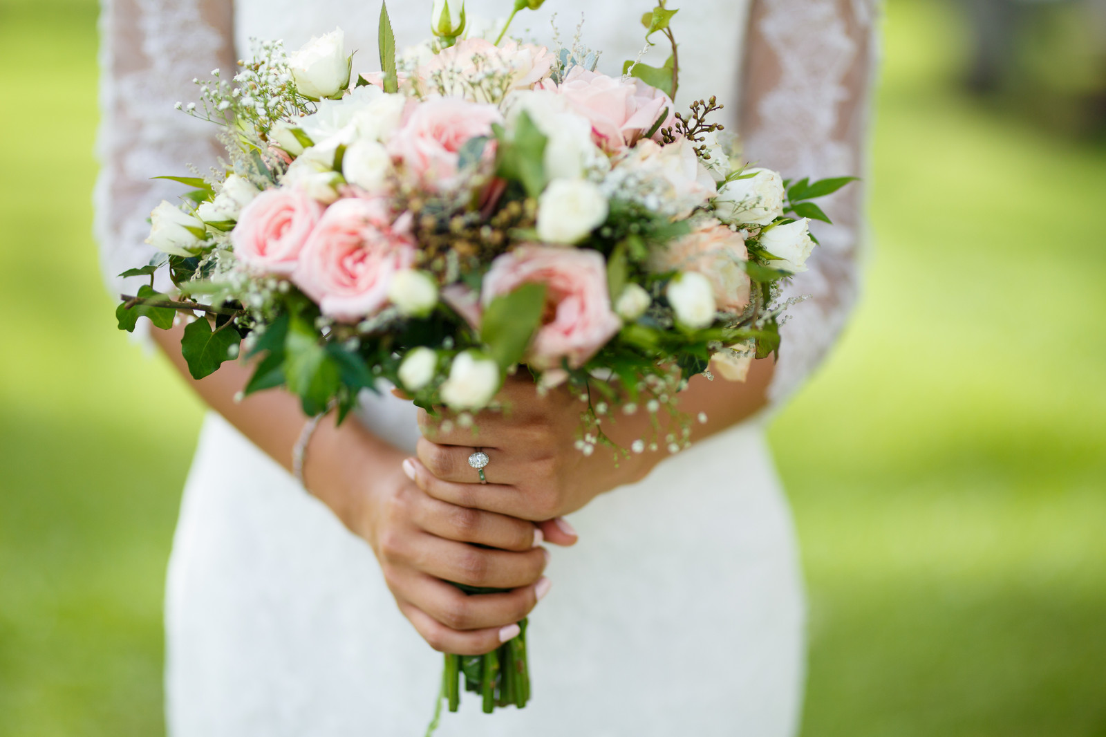 Destination weddings in sri lanka gallery of weddings romantic bridal bouquet of blush roses and white wild roses bridal bouquet at sri lanka izmirmasajfo Image collections
