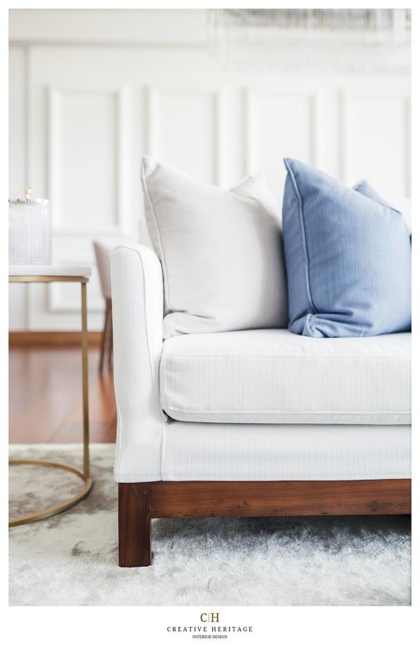 Sofa and cushino detail by Creative Heritage Interiors