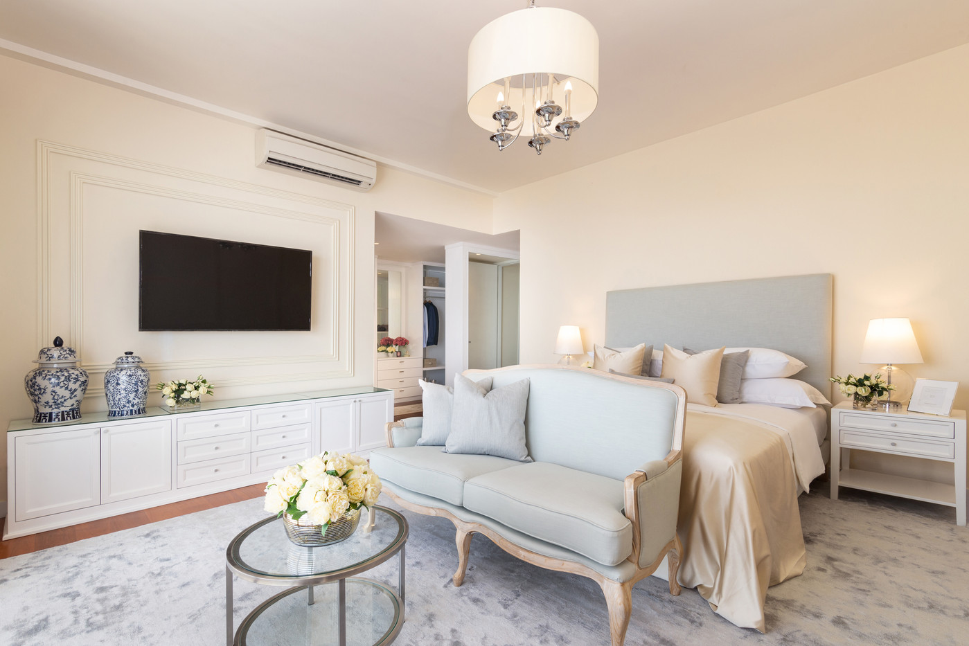 Bedroom at One Galle Face Residences by Creative Heritage Interiors