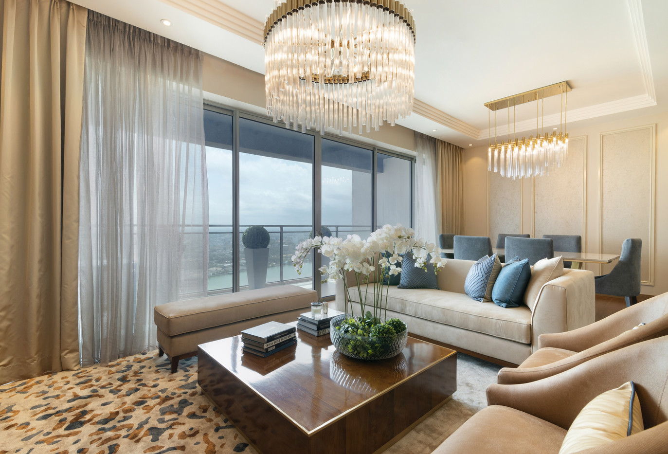 Living Room One Galle Face Residences by