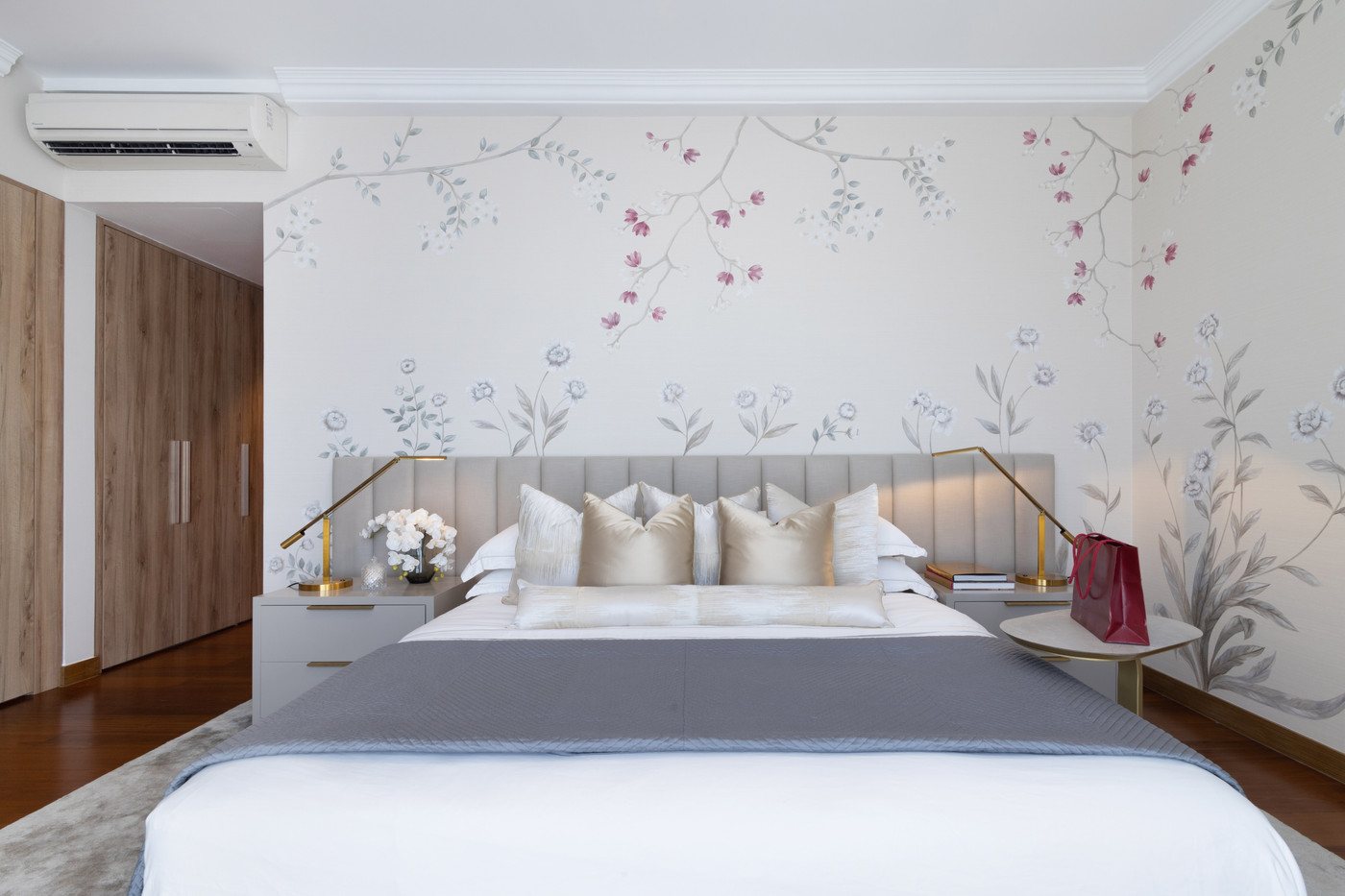 Master bedroom at One Galle Face Residen