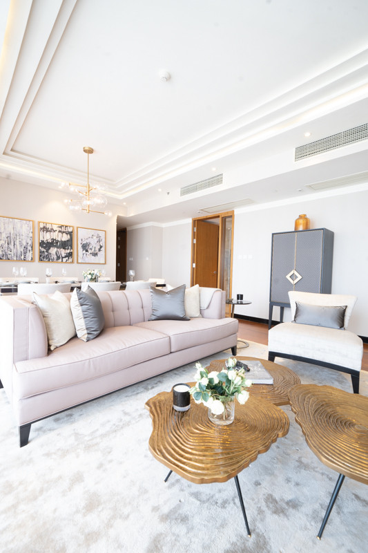 Living room coffee table in Brass by Creative Heritage Interiors