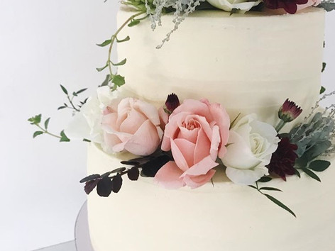 Two tier soft Buttercream Wedding cake