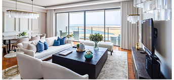 Living Room One Galle Face Residences In