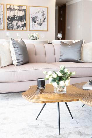 Leg detail of coffee table in interior by interior designer Creative Heritage Sri Lanka