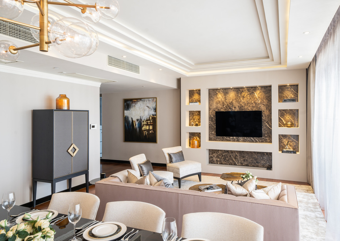 Living Room One Galle Face by Creative H