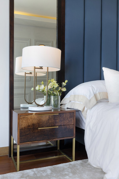 Bed sideview Creative Heritage Interiors