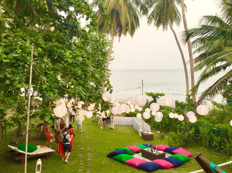 Gorgeous setting and view for a beach destination wedding