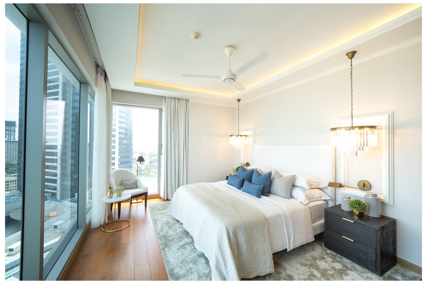 Bedroom at One Galle Face Residences by Cretive Heritage Interiors
