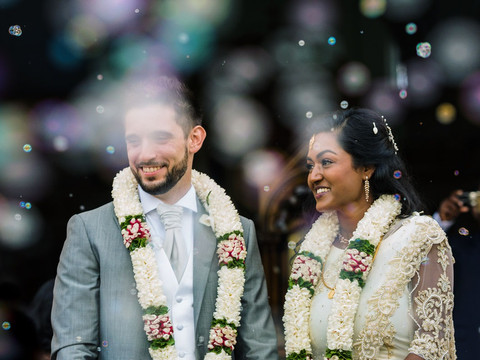 Traditional wedding garlands Indian Destinatinon Wedding Sri Lanka