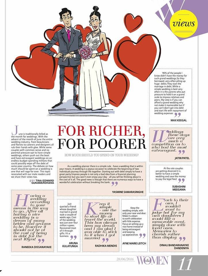 Daily Mirror Wedding Planning article Happily Ever After Wedding Planners Quote