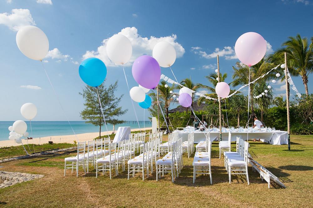 beach front wedding ceremony and cocktails Sri Lanka destination wedding
