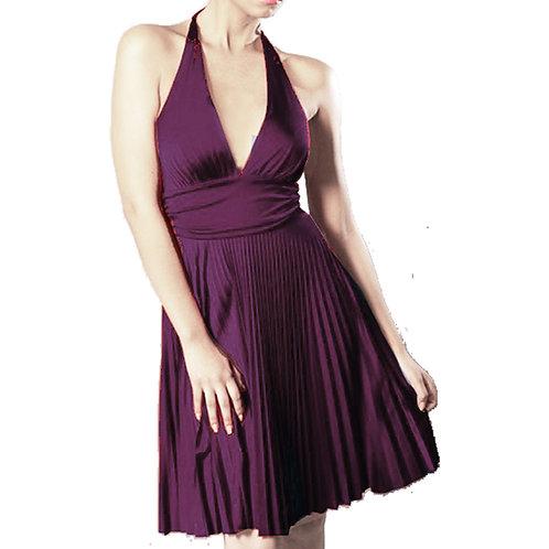 Crystal pleat Halter dress