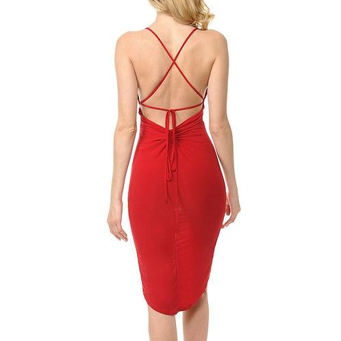 Slit Chemise dress