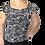 Thumbnail: Black & White Off Shoulder Ruffle Neck Top