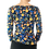 Thumbnail: 3/4 Sleeve Faux wrap top in Blue & Yellow Paisley
