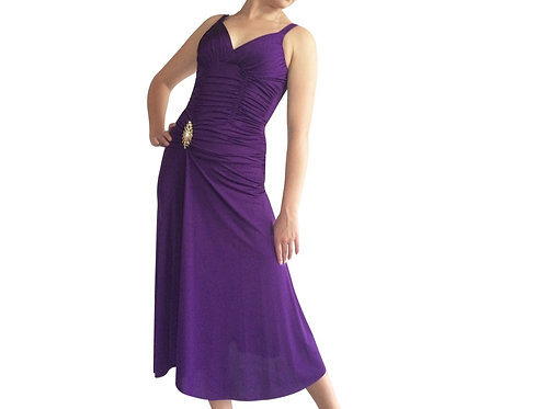 Ruched Rhinestone detail dress