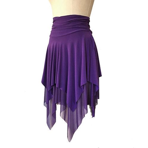 Layered Handkerchief hem dance skirt