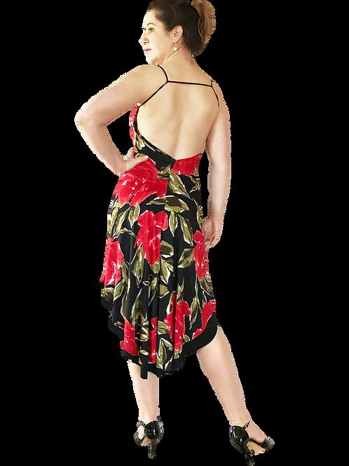 Red Rose fishtail dress