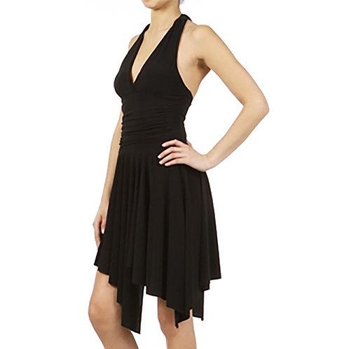 A line Halter dress with Handkerchief hem