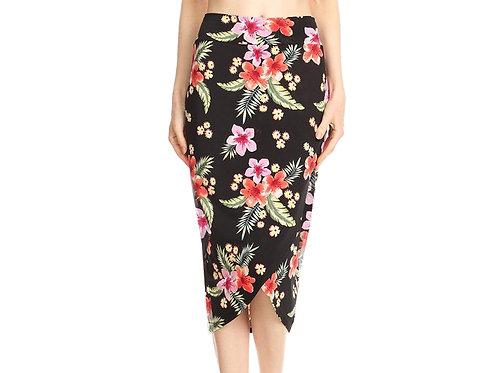 Tropical Tulip wrap skirt