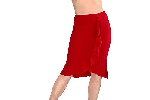 Tulip Hem ruffle skirt