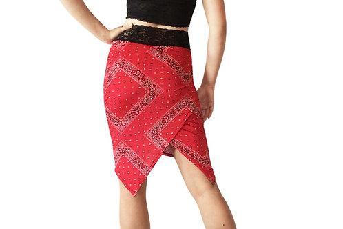 Red Bandana pencil skirt