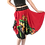 Thumbnail: Red Iris charmeuse circle skirt