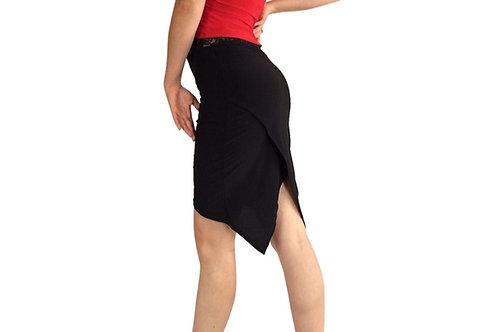 Solid tuxedo pencil skirt