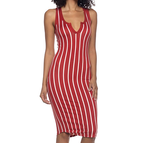 Striped Racerback Tank Dress