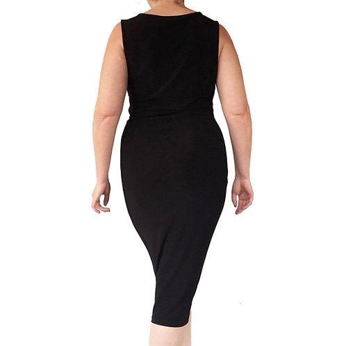 Black Tulip hem dress