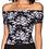 Thumbnail: Black & White Off Shoulder Top