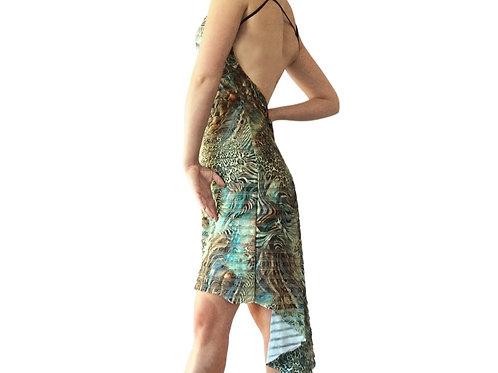 Versace Ruffle fishtail dress