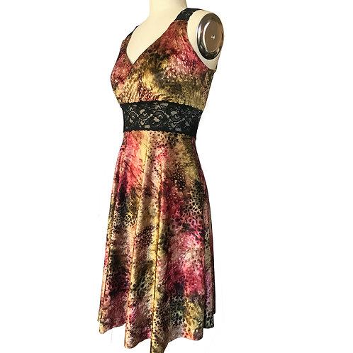 Autumn Waterspot velvet circle dress