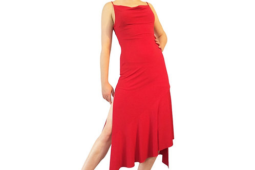 Draped neck  dress