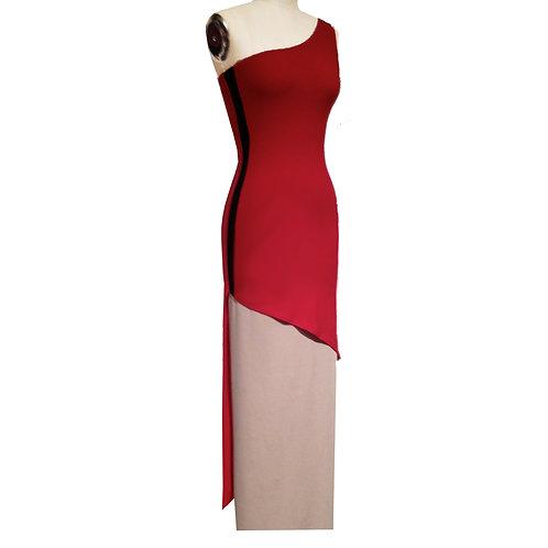 One Strap Asymmetrical sheath dress