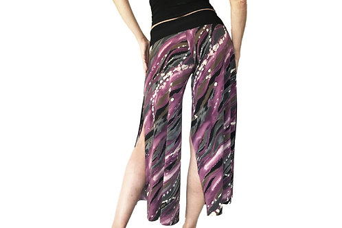 Purple + Gray H2O cropped pant with slits