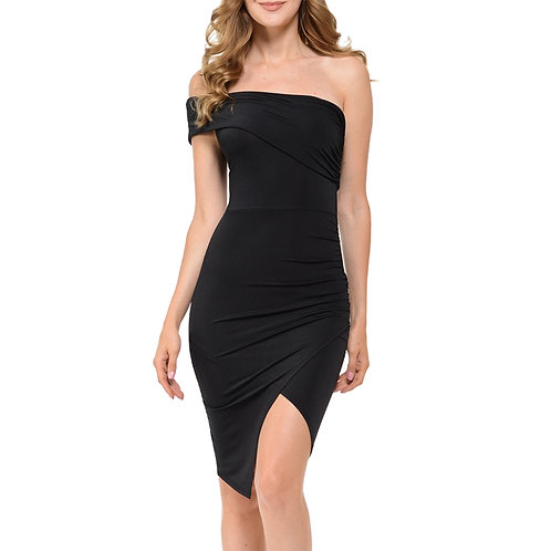 Off Shoulder Faux wrap dress