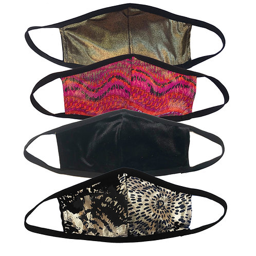 Reversible Masks with glitz