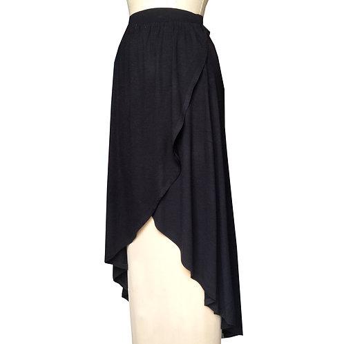 Black A-Line Tulip Skirt