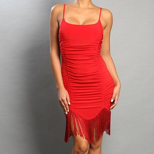 Ruched Fringe dress
