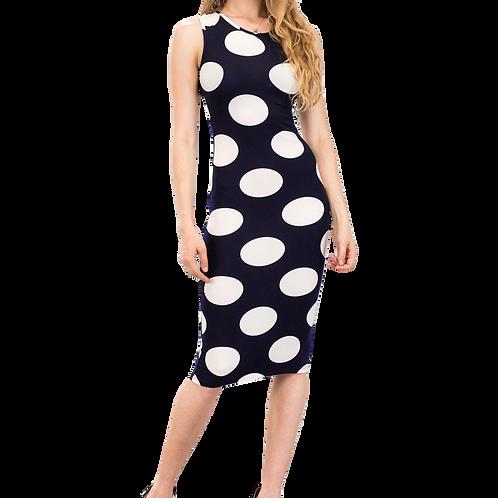 Black & White Polka Dot sheath dress